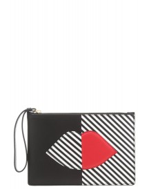 Lulu Guinness Grace Clutch Black/white/red afbeelding