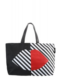 Lulu Guinness Larissa Shopper Black/white/red afbeelding
