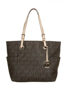 Michael Michael Kors Jet Set Shopper Brown afbeelding
