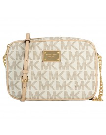 Michael Kors Cross Body Tas Jet Set Item 32s4gjsc7b Vanille afbeelding