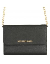 Michael Kors Large Phone Crossbody Jet Set Travel 32t4gtvc3l Zwart afbeelding