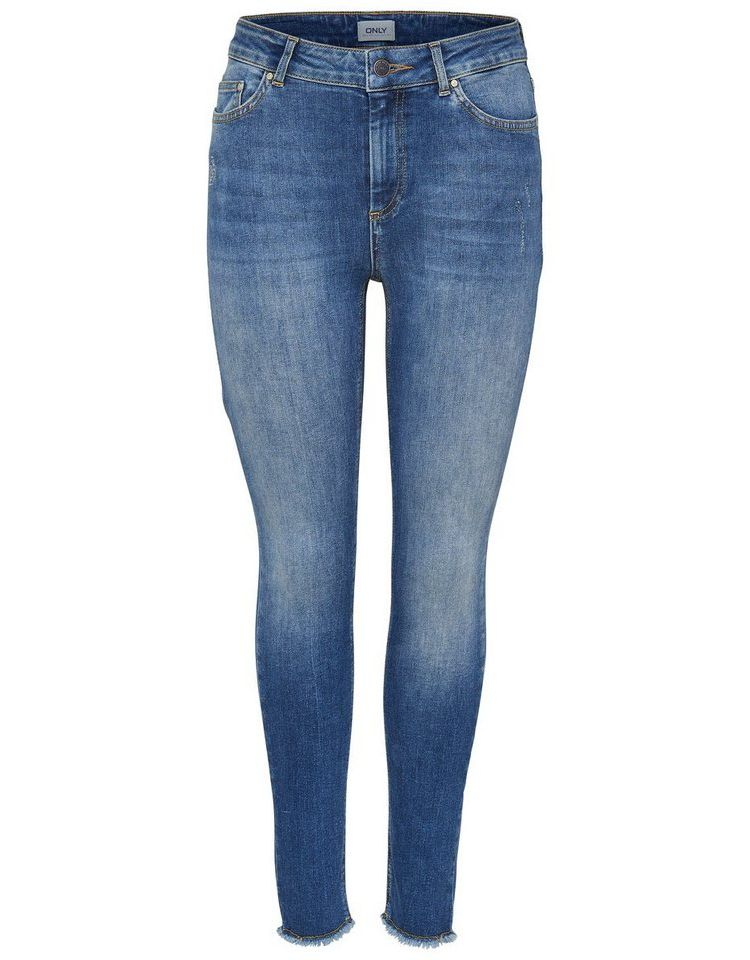 Image Nu 15% Korting: Only Blush Mid Ankle Raw Skinny Jeans