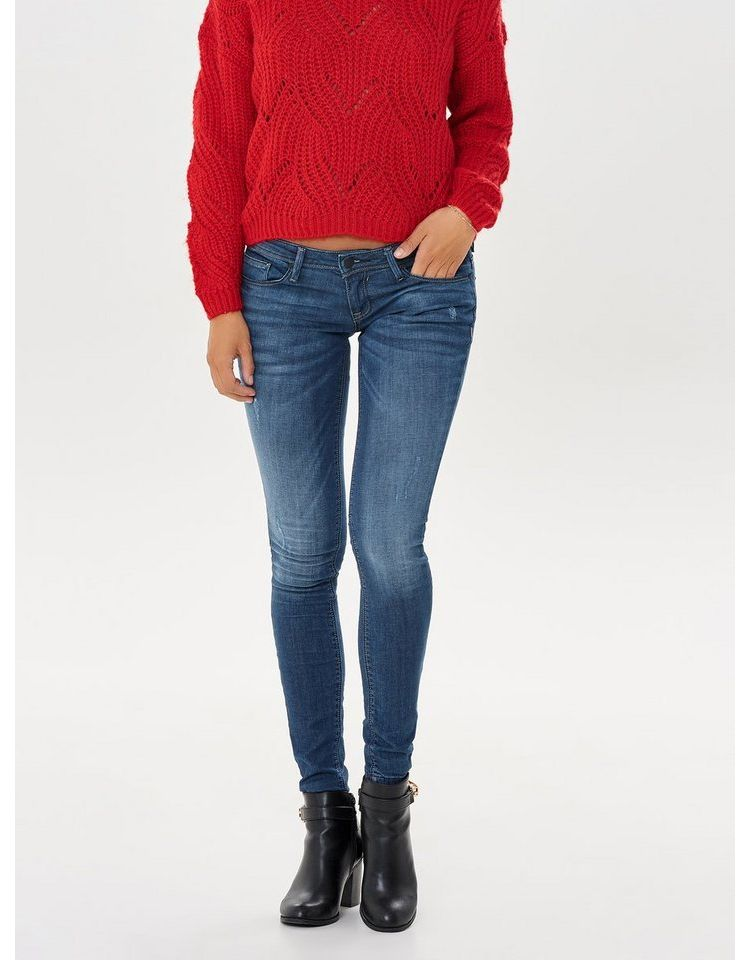Image Nu 21% Korting: Only Coral Super Low Skinny Jeans