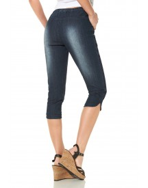 Corley Collection Capri-jeans Van Stretch-denim afbeelding