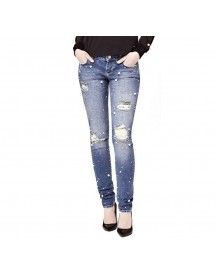 Guess Jeans Kralenapplicaties Scheuren afbeelding