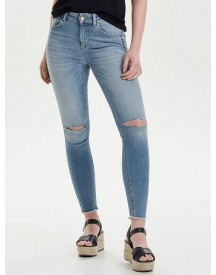 Only Blush Mid Knee Cut Enkel Skinny Jeans afbeelding