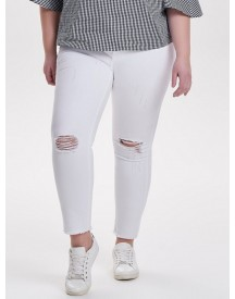 Only Carmakoma Curvy Destroyed Slim Fit Jeans afbeelding