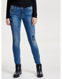 Nu 15% Korting: Only Carmen Patch Reg Skinny Jeans afbeelding