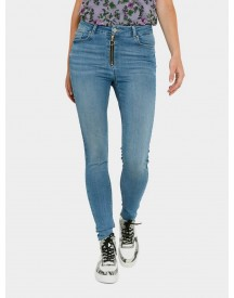 Nu 21% Korting: Pieces Mid Waist Skinny Fit Jeans afbeelding