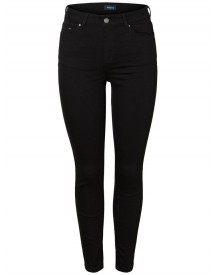 Pieces Stay Black Mid Waist Skinny Fit Jeans afbeelding