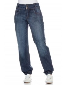 Sheego Denim Sheego Denim Jeans In Pofmodel Met Used-effecten afbeelding