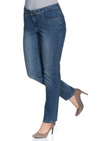 Sheego Denim Smalle Stretchjeans Kira afbeelding