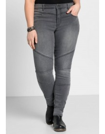 Sheego Denim Sheego Denim Stretchjeans In Biker-look afbeelding