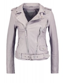 Be Edgy Jalda Leren Jas Light Grey afbeelding