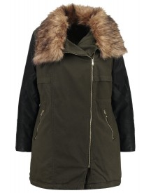 New Look Curves Ex Score Winterjas Dark Khaki afbeelding