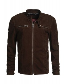 Superdry Real Hero Leren Jas Brown Goat afbeelding