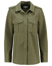 Warehouse Shacket Korte Jassen Khaki afbeelding