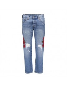 Levi's 501 Cropped Custom Blues Jeans afbeelding