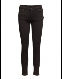 Nicole 006 Zip, Moon Black Satin, Jeans 2nd One Jeans afbeelding