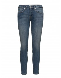 Sfida Mw Cropped Jeans Blue Water Noos Selected Femme Jeans afbeelding