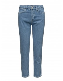 Cropped Straight Stonewash Wrangler Jeans afbeelding