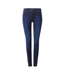 Calvin Klein Mid Rise Skinny Jeans In Donkere Wassing afbeelding