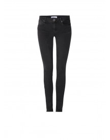 Sandro Mid Rise Skinny Jeans In Donkergrijs afbeelding