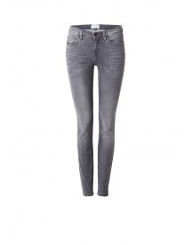 Selected Femme Elena Mid Rise Slim Fit Jeans Met Faded Look afbeelding