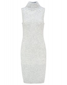 Club Monaco Devillia Gebreide Jurk Light Heather Grey afbeelding