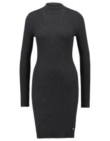 Gstar Lynn Turtle Dress Knit L/s Gebreide Jurk Black Heather afbeelding