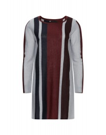 We Fashion Gebreide Jurk Burgundy Red afbeelding