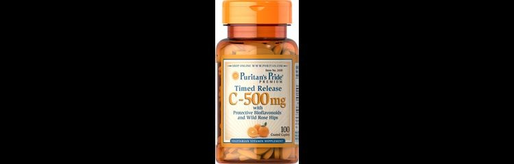 Image Vitamin C-500 Mg With Rose Hips Time Release 500 Mg