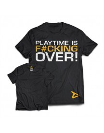 Dedicated T-shirt 'playtime Is Over' afbeelding