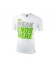 Crew Neck Weak Ends Here Tee White afbeelding
