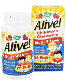 Alive! Children's Chewable Multi-vitamin afbeelding