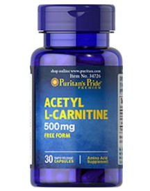 Acetyl L-carnitine 500 Mg afbeelding
