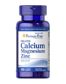 Chelated Calcium 1000 Mg, Magnesium 400 Mg & Zinc 25 Mg afbeelding