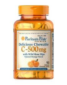 Chewable Vitamine C-500 Mg With Rose Hips afbeelding