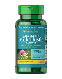 Milk Thistle Standardized 175 Mg (silymarin) afbeelding
