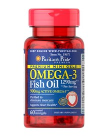 Omega-3 Fish Oil 645mg Mini Gels (450mg Active Omega-3) afbeelding