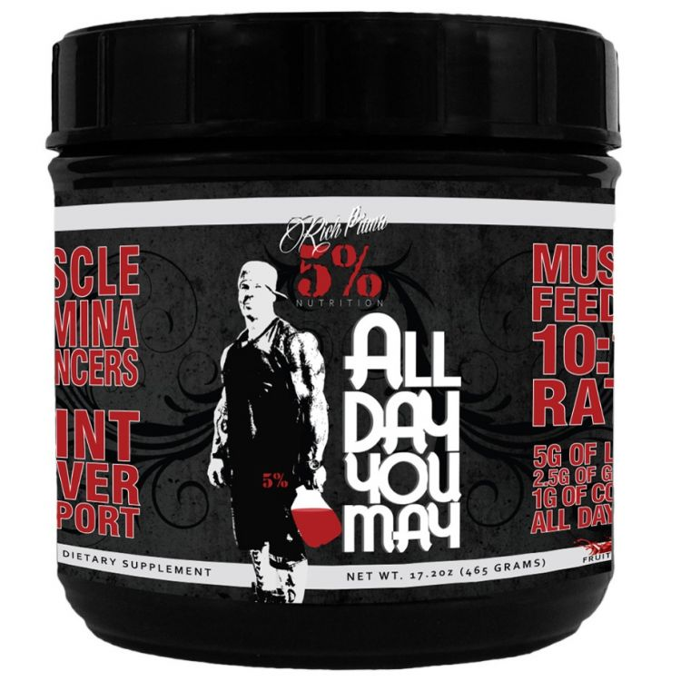 Image All Day You May Rich Piana 30 Servings - Blue Raspberry