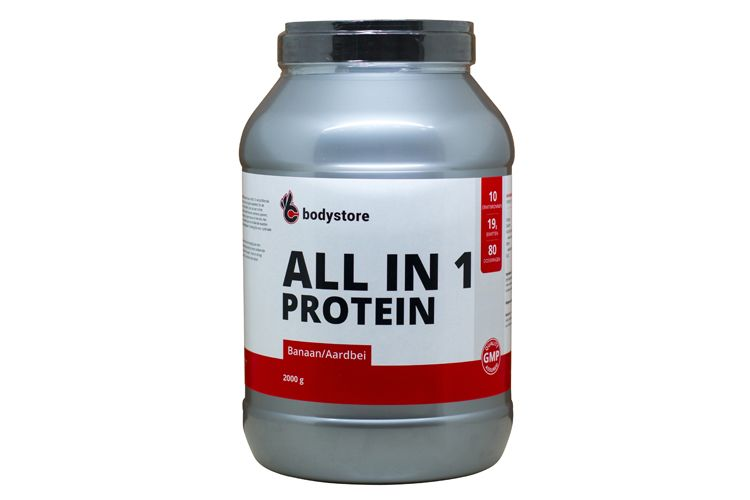 Image All In One Protein - 2000 G - Banana Strawberry - Bodystore