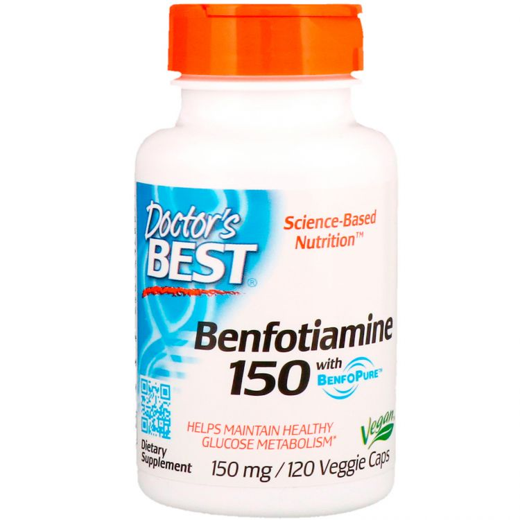 Image Benfotiamine With Benfopure - 150mg - 120 Caps - Doctor's Best