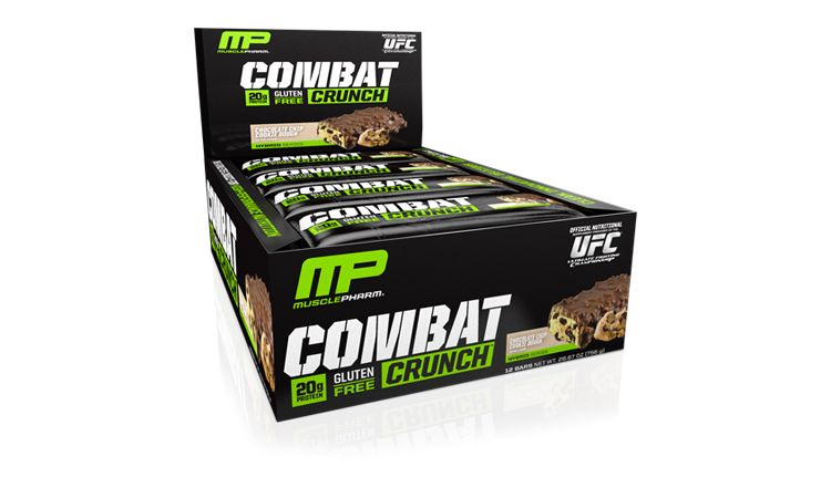Image Combat Crunch Bar - Choco Chip Cookie Dough - 1 Doos - Musclepharm