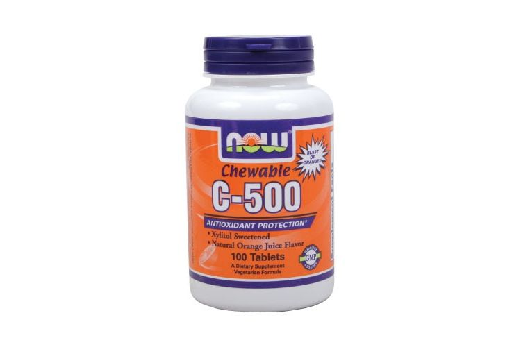 Image C-500 Chewable Orange - Now - 100 Tabletten