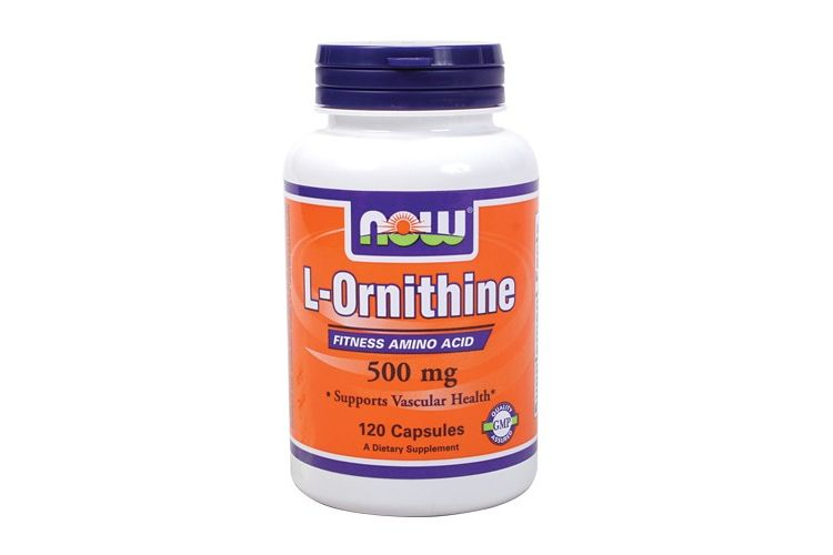 Image L-ornithine - Now - 120 Capsules