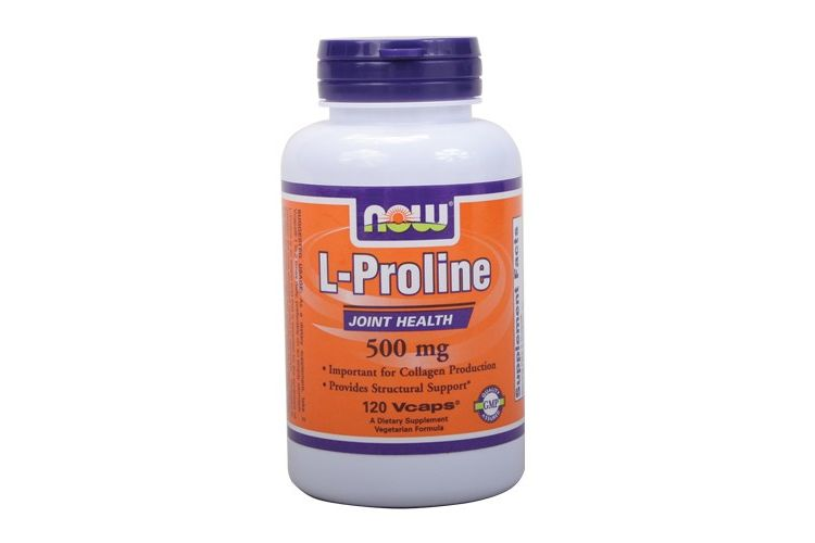 Image L-proline - Now - 120 Capsules