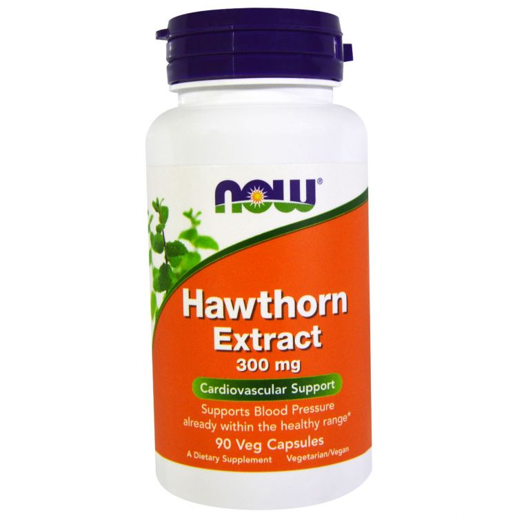 Image Hawthorn Extract, 300 Mg, 90 Veg Capsules - Now Foods