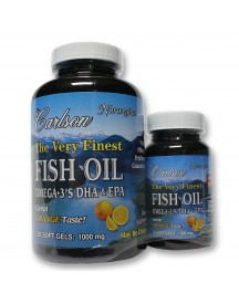 The Very Finest Fish Oil - 120 Softgels + 30 Free - Orange - Carlson afbeelding