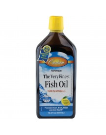 The Very Finest Fish Oil Vloeibaar - 500ml - Lemon - Carlson afbeelding